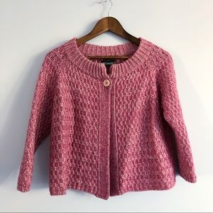 Weekend MaxMara Pink Wool Cardigan